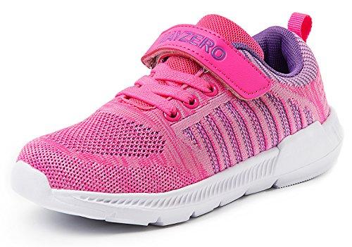 JSLEAP Kinder Tennisschuhe Jungen Mädchen Sneakers Leichte Low-Top Laufschuhe für Kleinkind/Little Kid/Big Kid, Rosa, 37 EU