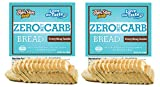 ThinSlim Foods Zero Net Carb Bread | Keto | Low Carb | 45 Calories Per Slice | - Everything Inside, 2 Pack
