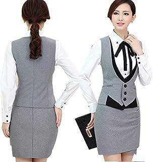 (森本ネット通販)レディース ベスト スカート ビジネススーツ 3点セット オフィス 面接 大きいサイズ スーツ 女性 スカートスーツ スーツ セットアップ