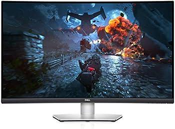 "2021 Newest Dell 32"" Curved 4K UHD VA Ultra-Thin Bezel Monitor ADM FreeSync HDMI DisplayPort Built in Speakers VESA Certified Sliver"