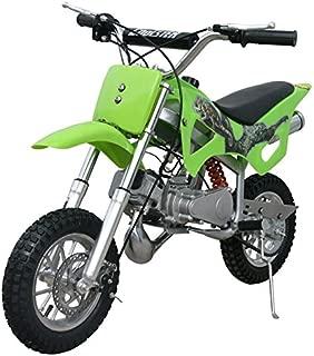 49cc 50cc Green 2-Stroke Gas Motorized Mini Dirt Pit Bike