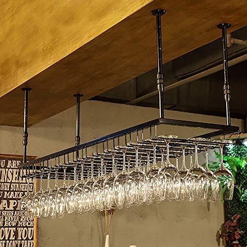 JHGJBJ Weinglashalter Hängeregal,Becher Aufhänger Hauptdekorationen Und Küche,Einstellbare Höhe: 30-60 cm (90x35cm)