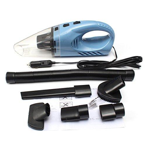 LLZXCQ Auto-stofzuiger/luchtpomp/120 watt, 12 V, 2500 r/min, handheld, draagbare autostofzuiger, auto van vrachtwagen, caravan, boot vuil, schoon en nat en droog dual gebruik oranje