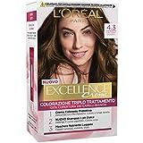 L'Oréal Paris Excellence Crema Colorante Triplo Trattamento Avanzato, 4.3 Castano Dorato