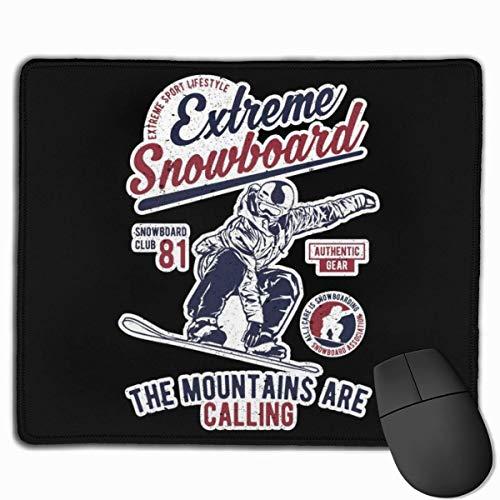 Mouse Pad,Extreme Snowboard Authentic Gear Mousepad, Attraktive Dekorative Rutschfeste Gaming-Pads Für Die Dekoration Von Bürocomputern,25*30cm
