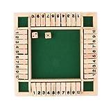 Baoblaze Jeu de Table Planche en Bois Numérique 1-10 avec Dés Mini Table Jouet Enfants Adultes