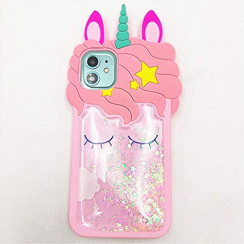 for iPhone SE Case Cute iPhone 5S Case Unicorn iPhone 5C Case iPhone 5 Case 3D Cartoon Quicksand Bling Glitter Silicone Rubber Cover Women Teen Girls Cute Cases for iPhone 5S 5 SE 5C (iPhone 5S/5/SE)