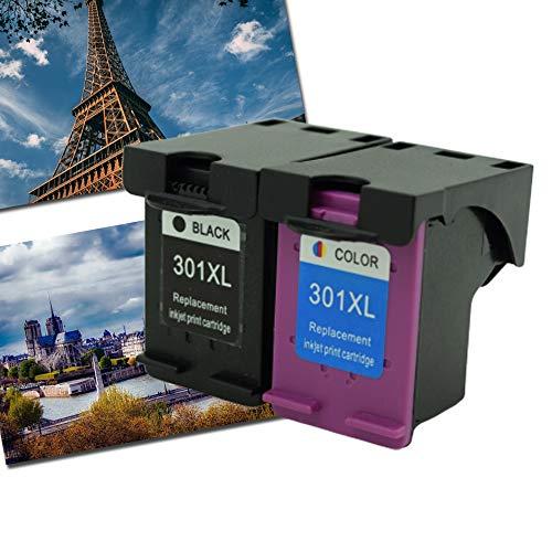 Caidi Remanufactured printercartridges vervanging voor HP 301 XL 301XL compatibel met HP Envy 4500 5530 4507 Deskjet 2540 1510 2547 1050a 2549 Officejet 4630 2620 printer 1Noir+1Couleur