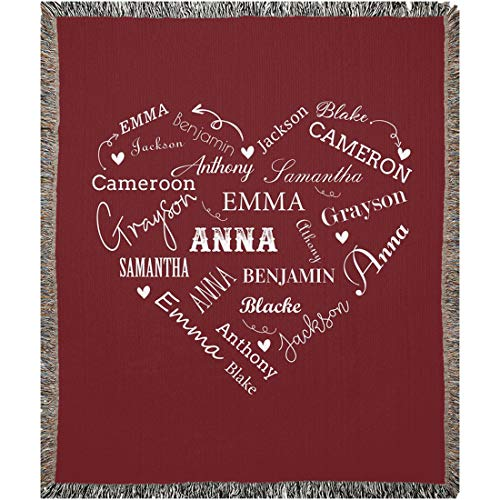 Personalized Name Throw Blanket