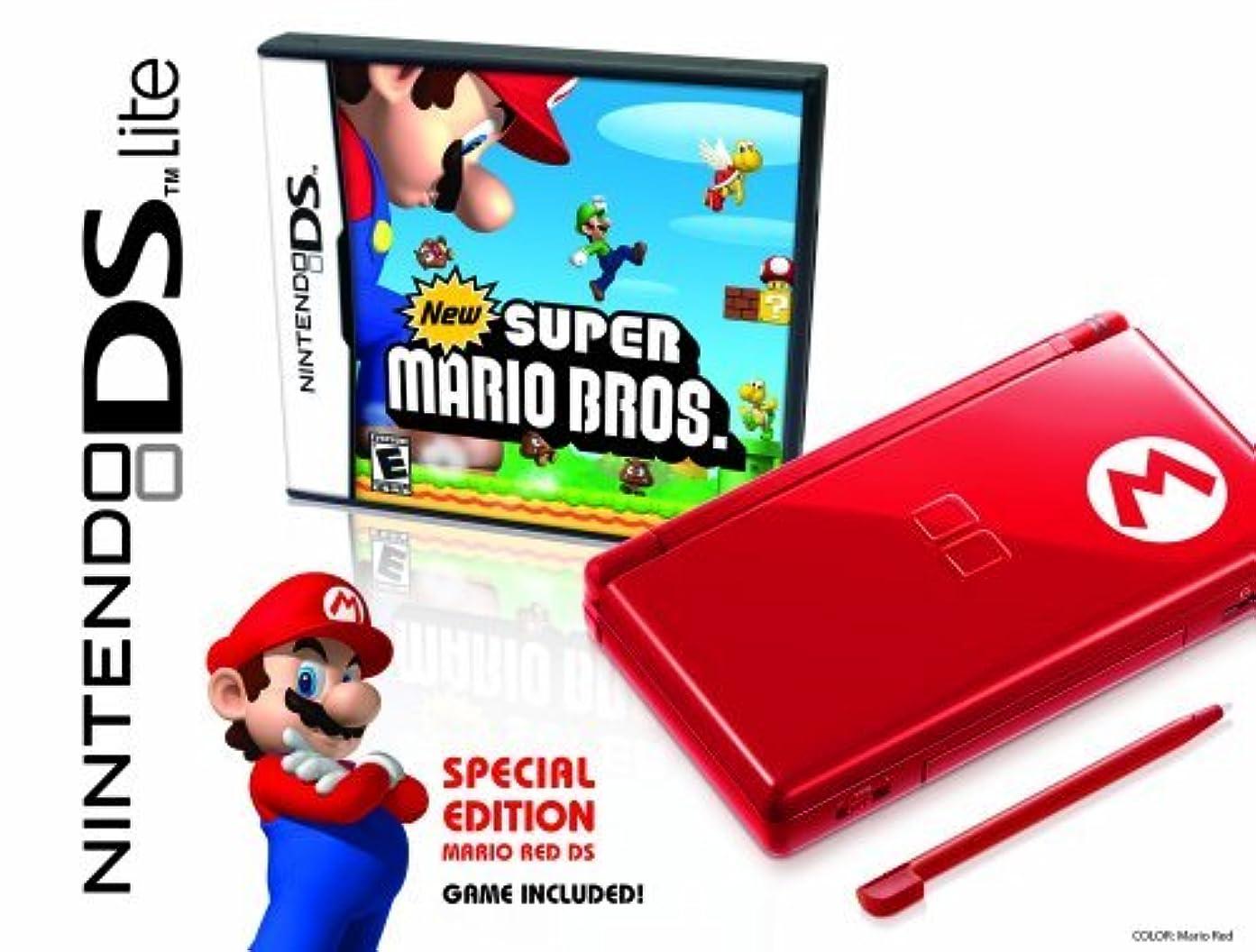 うめきアーティキュレーション破壊的なNintendo DS Lite Limited Edition Red Mario with New Super Mario Bros. by Nintendo [並行輸入品]