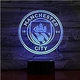 Luz nocturna 3D RGB Vision LED 7 y 16M colores USB Manchester City Premier Football Club Tienda familiar Ambiente romántico niños amigos regalos de vacaciones