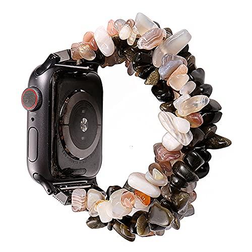 Livronic - Correa para Apple Watch Bands 42 mm 44 mm para mujer, moda natural, tiger natural, tiger, Eye Strap, repuesto para Iwatch Serie 5, 4, 3, 2, 38 mm, banda de 40 mm, compatible con Apple Watch