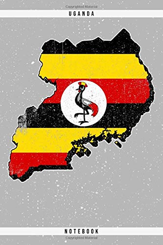 Uganda. Notebook: Dotted Notebook with 120 pages. Cool illustration with the ugandan...