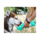 Portable Water Bottle Pull Out Bowl for Dog Walks Travel Custom Recycled with Poop Shovel and Poop Bags Dishwasher Friendly for Puppies Dogs All Ages (500ml, Yellow)