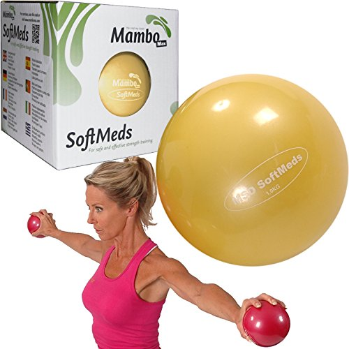 MSD softmed 1 kg balón medicinal 12 cm suave inflable bola pesas Pilates Fitness