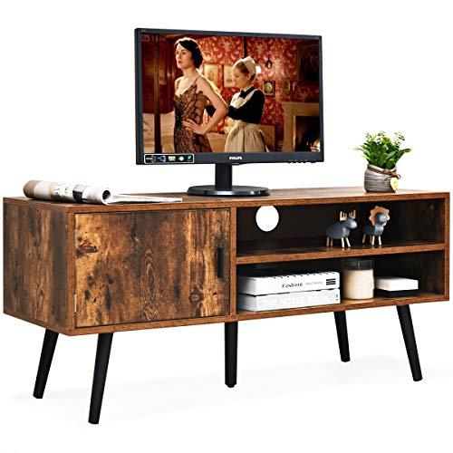 COSTWAY Mobile per TV Tavolino Porta TV Consolle Armadio rétro, per Salotto e Camera da Letto, in Legno