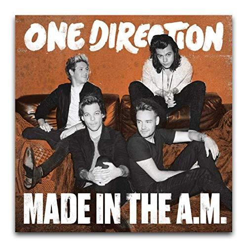 WPQL One Direction (Made in The A.M. – edición de vinilo) 2020 cubierta de álbum – Lienzo 40 x 40 cm