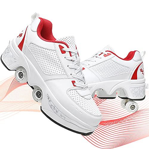 YUNWANG Patines En Paralelo Patín sobre Ruedas Parkour Zapatos Patines De Exterior E Interior Patines En Línea para Niños Jouvenes Y Adolescentes