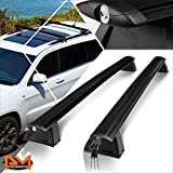 Compatible with Jeep Grand Cherokee 11-18 Aluminum OE Style Roof Rack Top Rail Crossbar Cargo Carrier+Lock