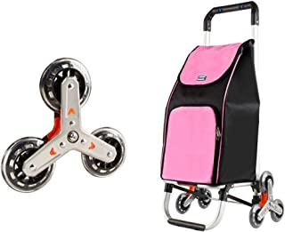 HIZLJJ Folding Compact Lightweight Durable Luggage Cart Travel Trolley Quiet Wheeling Sports & Medical Equipment Carrier