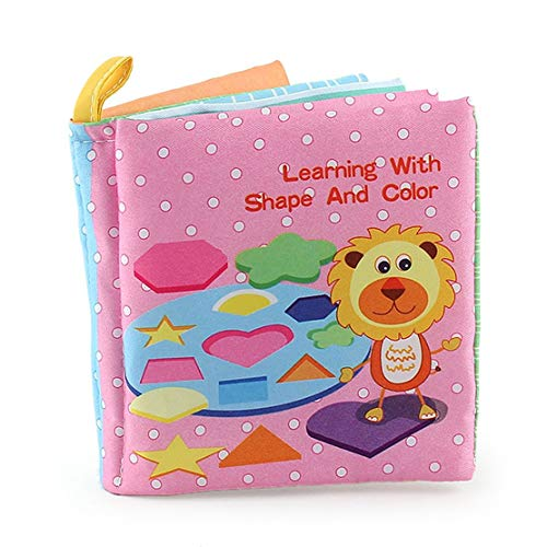 Sanzhileg Baby Shower Bath English Cartoon Animal Cloth Book Early...