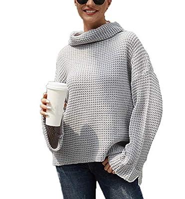Damen Rollkragen Pullover Herbst
