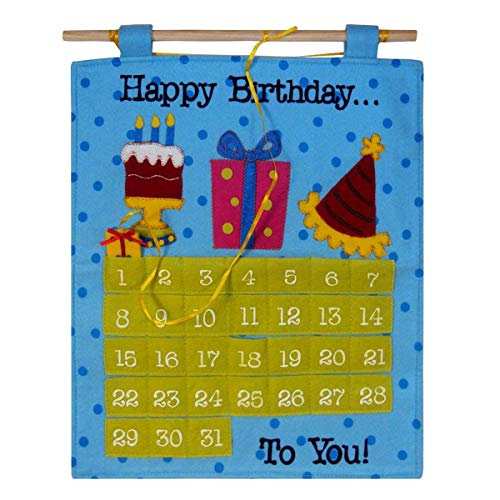 Birthday Countdown Calendar, Fun Birthday Celebration Idea for The Best Happy Birthday, Birthday Decorations - The Finishing Touch by American Greetings