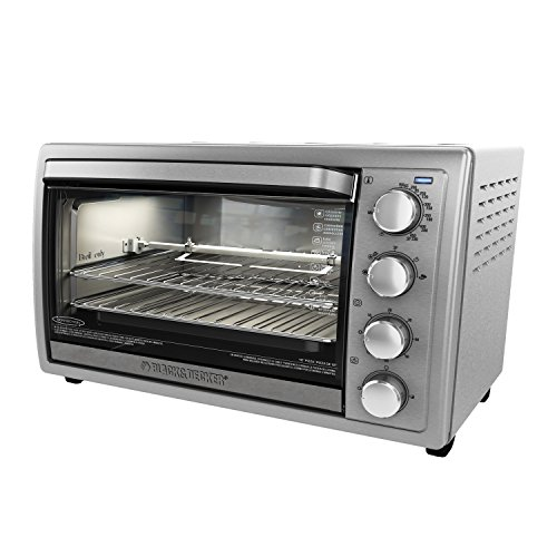 Black+Decker WCR-076 Rotisserie Toaster Oven, 9X13, Stainless Steel