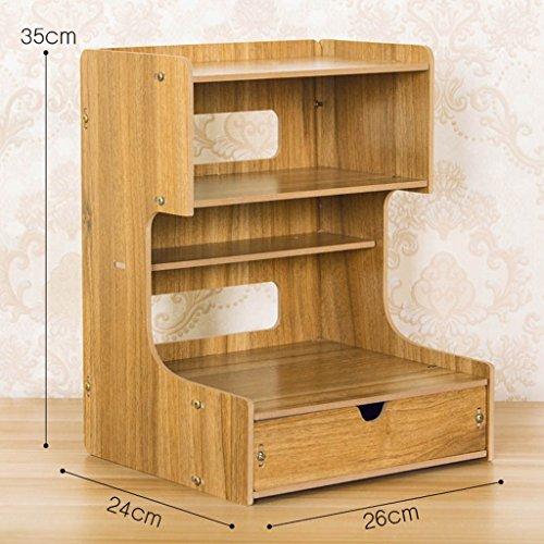 Bureau multifonctionnel Bureau Boîte de rangement Fournitures de bureau en bois Stockage de fichiers Téléphone tiroir étagère (couleur : N ° 4)