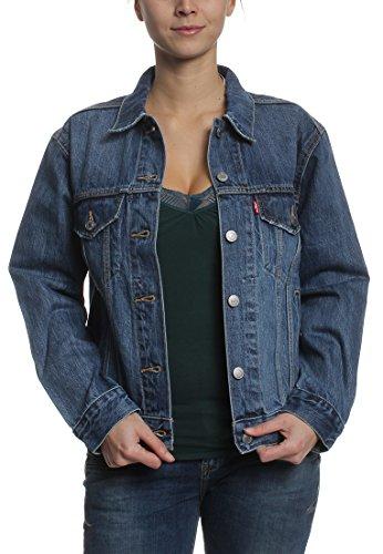 Levi, EX BOYFRIEND TRUCKER 29944-0006, jeansjas voor dames, kleur blauw, maat XS