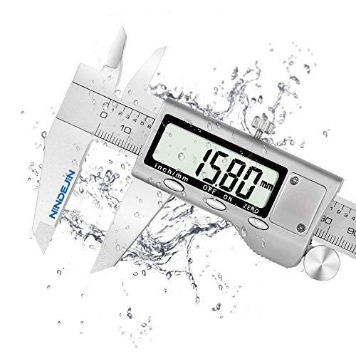 Messschieber NINDEJIN Schieblehre Digital 150mm mit Feststellschraube Meßschieber Edelstahl 6 Zoll für Abständen und Durchmesser