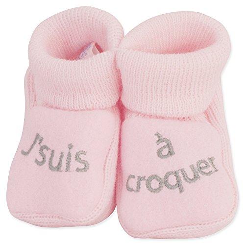 Kinousses par de patucos para beb/é rosa rosa Talla:0-1 meses