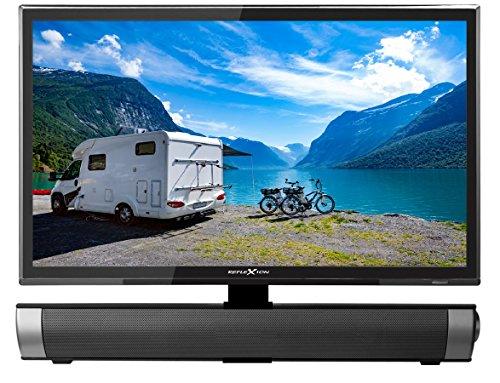 Reflexion 19 Zoll Smart Fernseher Widescreen mit Soundbar, für Wohnmobile mit DVB-T2 HD, Triple Tuner, Android, 12 /24 Volt, mit 12 V Adapter und DVB-T Antenne