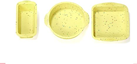 Silicone Cake Mold Baking Bakeware Pan Round 8 Inch and 6 Inch (set2(3 Pcs))