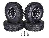 MASSFX VY 30x10-14 Tire w/MASSFX QUAKE 14x7 4/156 Rims Wheel & Tire Kit 30x10x14 Polaris RZR with Lugnuts (Black)