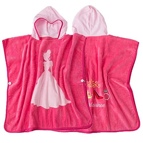 Toalla de baño con capucha para bebé - Toalla de playa con capucha Princess Lovely - Poncho de albornoz de algodón súper suave para Little Boy Girl - Idea para regalo