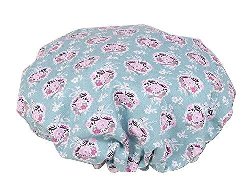 Bonnet de douche multifonction double couche, fleur-3