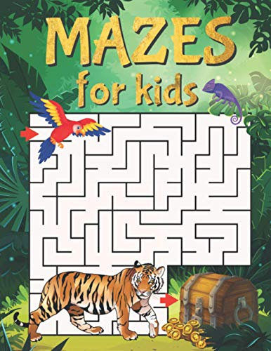 Mazes For Kids: Maze Activity Book With 40 Fun & Educational Maze Puzzles...