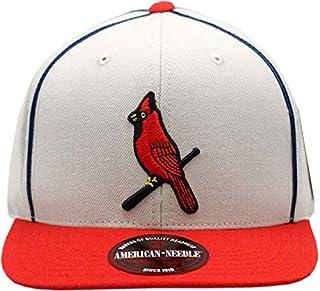 1928 St. Louis Logo Big Show Flat Bill Snapback Hat Grey/Red