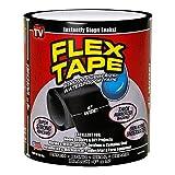 Alfa Mart Original Waterproof Rubberized flex Tape Stop Leaks Seal Sealant Repair Tape to Stop Leakage of Kitchen Sink, Toilet Tub, Water Tank, Pipe Instantly - Black