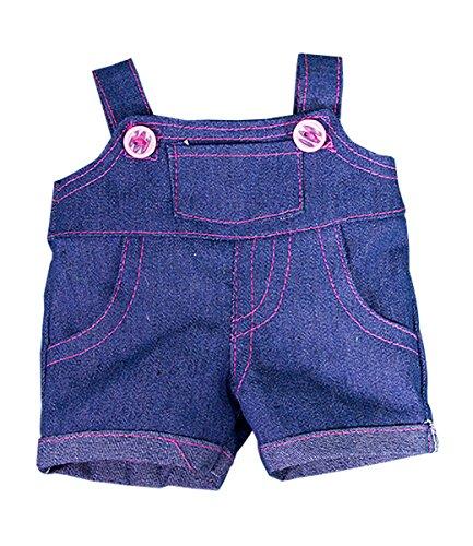 Blaue Latzhose, Kleid Teddybär Outfit Kleidung, für Teddybären von 20 cm bis 25 cm von Kopf bis Fuß, T