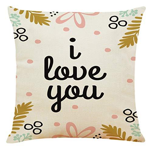 Kingwani  Funda de almohada de poliéster con estampado para el día de San Valentín para sofá, coche, decoración del hogar, accesorios para el hogar, tienda ahora.