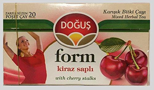 Dogus Kirschstiel Form Gemischter Kräutertee - Beuteltee - Mixed Herbal Tea - 2er Pack