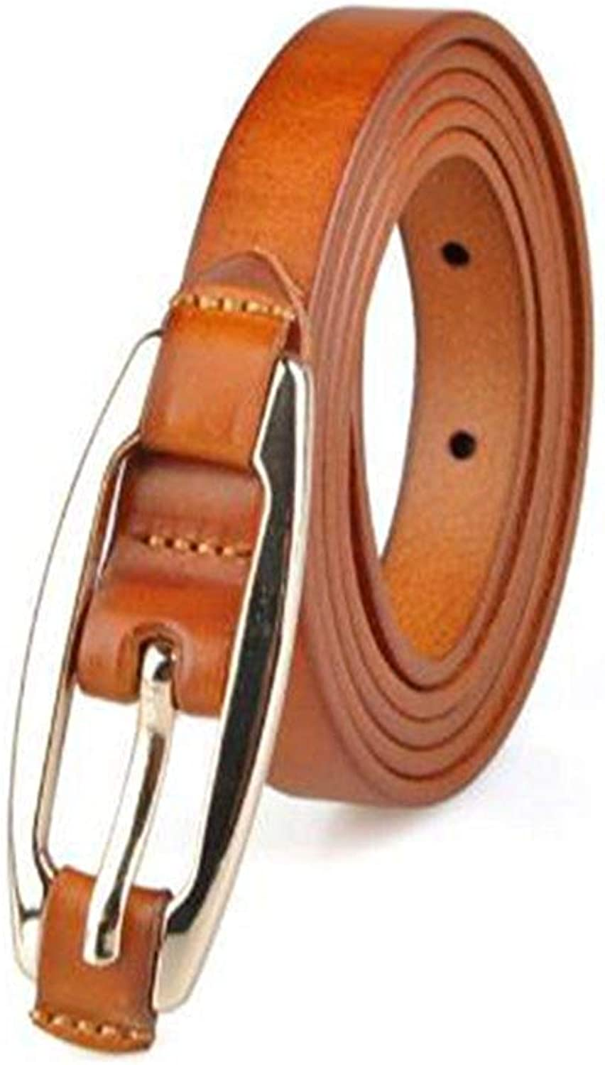 "BGRFEB Women's belt ladies belt Pure leather wild belt  The first layer of leather  0.6""Wide  (color   Khaki)"