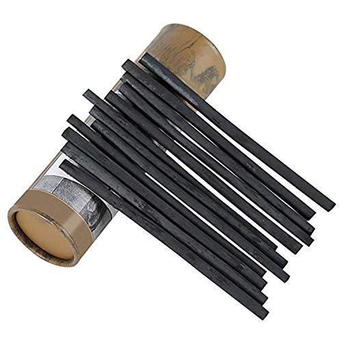 PPX Natürliche Zeichenkohle, Weidenkohle - Länge 13.5 cm - 25 Stück (5-8mm)
