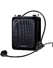 Bluetooth Voice Amplifier, SHIDU Personal Voice Amplifier 18W met bekabelde microfoon Headset Draagbare waterdichte Bluetooth-luidspreker Oplaadbaar PA-systeem Power Bank voor buitenshuis, leraren, douche, strand