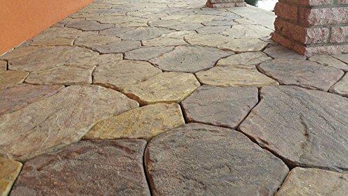 Concrete molds Sold 6 pcs Plastic MOLDS Flagstone Casting Concrete Paving Garden Paths Stone Patio #S34