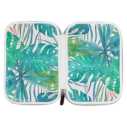 Bardic Pen Pencil Case Tropical Banana Palm Tree Leaf Makeup Brush Bag Travel Organizer Cosmetic Pouch Passport Holder for Men Women