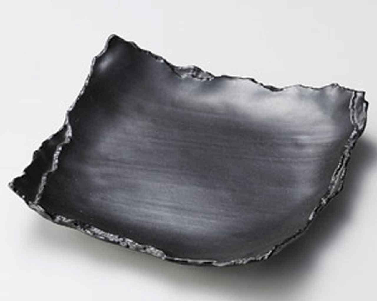 Mat Kasane 9.4inch Medium Plate Japan Bargain sale in porcelain Ranking TOP16 Made Black