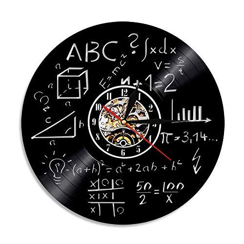 MRQXDP Reloj de Pared con Disco de Vinilo geométrico Reloj de Pared con decoración Retro 3D Reloj de Pared Hecho a Mano Decoración del hogar Regalo para entusiastas de Las matemáticas Lamp
